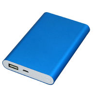 Power Bank 8000 mAh синего цвета PB002 оптом